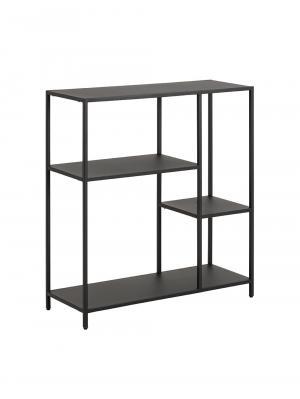 Regál / knižnica Lyfte, 86 cm, čierna