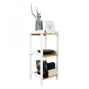 Regál, prírodná bambus/biela, ERAVA TYP 1
