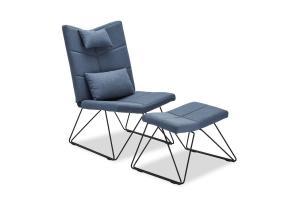 Relaxačné kreslo Abbott, modré