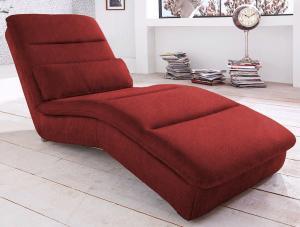 Relaxačne ležadlo Yankee, červená látka