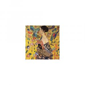 Reprodukcia obrazu Gustav Klimt Lady With Fan, 70 × 70 cm