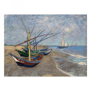 Reprodukcia obrazu Vincenta van Gogha - Fishing Boats on the Beach at Les Saintes-Maries-de la Mer, 40 × 30 cm
