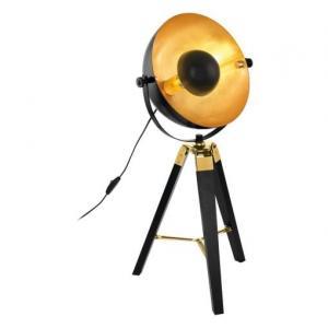 Retro a vintage svietidlo EGLO Covaleda čierna / zlatá 49617