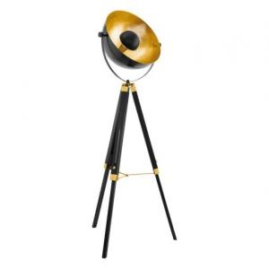 Retro a vintage svietidlo EGLO Covaleda čierna / zlatá 49618
