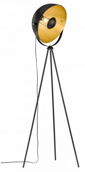 Retro a vintage svietidlo WOFI Mona čierna 3019.01.10.7000