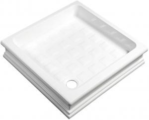 RETRO sprchová vanička keramická, štvorec 90x90x20