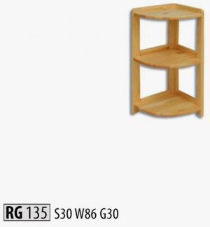 RG135 Rohový regál