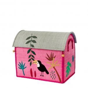 rice Detský úložný box Raffia Jungle Rose L