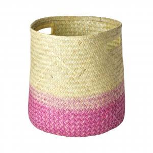 rice Úložný prepletaný kôš Raffia Gradiant Pink Větší