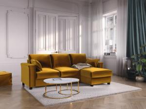 Rohová rozkladacia pohovka s úložným priestorom Relax – ľavý aj pravý roh