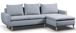 Rohová sedacia súprava Enjoy, béžovo-modrá tkanina