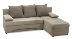 Rohová sedacia súprava Polaris, cappuccino/šedá látka