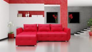 Rohová sedačka Brayton (červená)