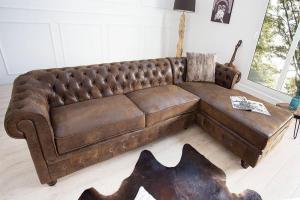Rohová sedačka Chesterfield Vintage pravá