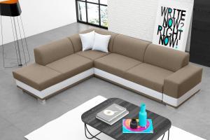 Rohová sedačka - Darcia (béžová) (L). Akcia -37%