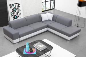Rohová sedačka - Darcia (sivá) (P). Akcia -37%