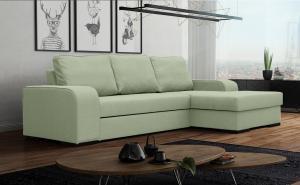 Rohová sedačka - Fonda (zelená) (P). Akcia -26%. Doprava ZDARMA.