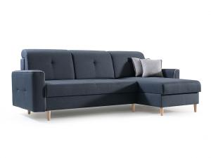Rohová sedačka Hosta (tmavomodrá + svetlosivá) (P)