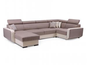 Rohová sedačka Istar U (hnedá + béžová) (P)