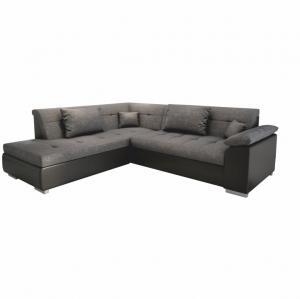 Rohová sedačka Leander (L) (čierna)