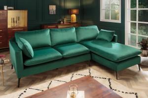 Rohová sedačka Lena 260 cm smaragdový zamat