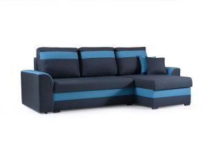 Rohová sedačka - Maxtom (tmavomodrá + modrá) (P). Akcia -33%.