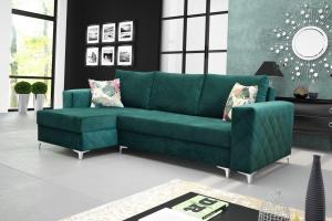 Rohová sedačka - Misrin (zelená) (L). Akcia -33%