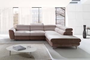 Rohová sedačka - Pickhill (ružová + hnedá) (P). Akcia -33%