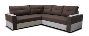 Rohová sedačka - Po-Sed - Arenna BL+2+TAB (hnedá + béžová) (P). Akcia -26% Sme autorizovaný predajca Po-Sed.