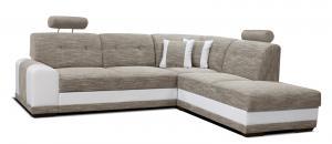 Rohová sedačka - Po-Sed - Bella II 2F+L (béžová + biela) (P). Akcia -11%. Doprava ZDARMA. Sme autorizovaný predajca Po-Sed.