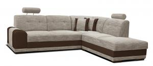 Rohová sedačka - Po-Sed - Bella II 2F+L (béžová + hnedá) (P). Akcia -11% Sme autorizovaný predajca Po-Sed.