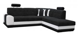 Rohová sedačka - Po-Sed - Bella II 2F+L (čierna + biela) (P). Akcia -11% Sme autorizovaný predajca Po-Sed.