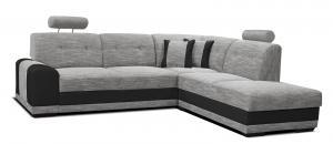 Rohová sedačka - Po-Sed - Bella II 2F+L (sivá + čierna) (P). Akcia -11% Sme autorizovaný predajca Po-Sed.