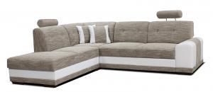 Rohová sedačka - Po-Sed - Bella II L+2F (béžová + biela) (L). Akcia -11%. Doprava ZDARMA. Sme autorizovaný predajca Po-Sed.