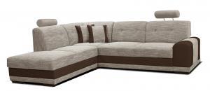 Rohová sedačka - Po-Sed - Bella II L+2F (béžová + hnedá) (L). Akcia -11%. Doprava ZDARMA. Sme autorizovaný predajca Po-Sed.