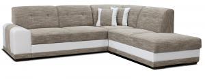 Rohová sedačka - Po-Sed - Bella Lux 2F+L (béžová + biela) (P). Akcia -13%. Doprava ZDARMA. Sme autorizovaný predajca Po-Sed.