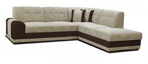 Rohová sedačka - Po-Sed - Bella Lux 2F+L (béžová + hnedá) (P). Akcia -13%. Doprava ZDARMA. Sme autorizovaný predajca Po-Sed.