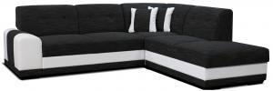 Rohová sedačka - Po-Sed - Bella Lux 2F+L (čierna + biela) (P). Akcia -13% Sme autorizovaný predajca Po-Sed.