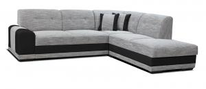 Rohová sedačka - Po-Sed - Bella Lux 2F+L (sivá + čierna) (P). Akcia -13%. Doprava ZDARMA. Sme autorizovaný predajca Po-Sed.