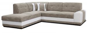 Rohová sedačka - Po-Sed - Bella Lux L+2F (béžová + biela) (L). Akcia -13%. Doprava ZDARMA. Sme autorizovaný predajca Po-Sed.
