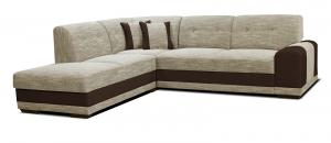 Rohová sedačka - Po-Sed - Bella Lux L+2F (béžová + hnedá) (L). Akcia -13% Sme autorizovaný predajca Po-Sed.