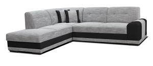 Rohová sedačka - Po-Sed - Bella Lux L+2F (sivá + čierna) (L). Akcia -13%. Doprava ZDARMA. Sme autorizovaný predajca Po-Sed.