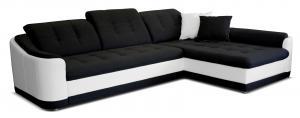 Rohová sedačka - Po-Sed - Bray L 2F+L (čierna + biela) (P). Akcia -14% Sme autorizovaný predajca Po-Sed.