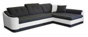 Rohová sedačka - Po-Sed - Bray L 2F+L (sivá + biela) (P). Akcia -14%. Doprava ZDARMA. Sme autorizovaný predajca Po-Sed.