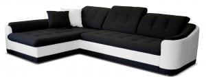 Rohová sedačka - Po-Sed - Bray L L+2F (čierna + biela) (L). Akcia -14% Sme autorizovaný predajca Po-Sed.