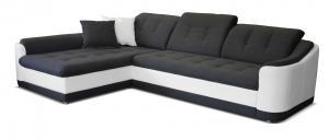 Rohová sedačka - Po-Sed - Bray L L+2F (sivá + biela) (L). Akcia -14%. Doprava ZDARMA. Sme autorizovaný predajca Po-Sed.