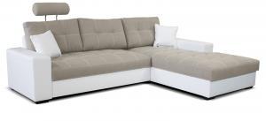 Rohová sedačka - Po-Sed - Corato 2F+L (béžová + biela) (P). Akcia -16%. Doprava ZDARMA. Sme autorizovaný predajca Po-Sed.
