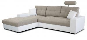 Rohová sedačka - Po-Sed - Corato L+2F (béžová + biela) (L). Akcia -16% Sme autorizovaný predajca Po-Sed.