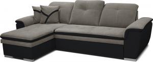 Rohová sedačka - Po-Sed - Estevan L+2F (sivá + čierna) (L). Akcia -12% Sme autorizovaný predajca Po-Sed.
