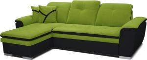 Rohová sedačka - Po-Sed - Estevan L+2F (zelená + čierna) (L). Akcia -12% Sme autorizovaný predajca Po-Sed.